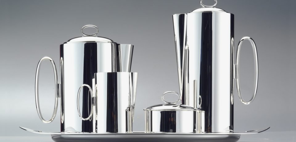 186-Zanetto Tea Set Silver Agentia UK