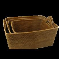 Baskets asia (3) 53x44x24, 48x37x22, 43x32x20 cm G127