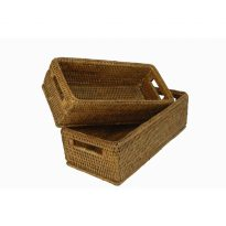 Baskets gill (set) 28x13x9, 25x11x9 cm G962