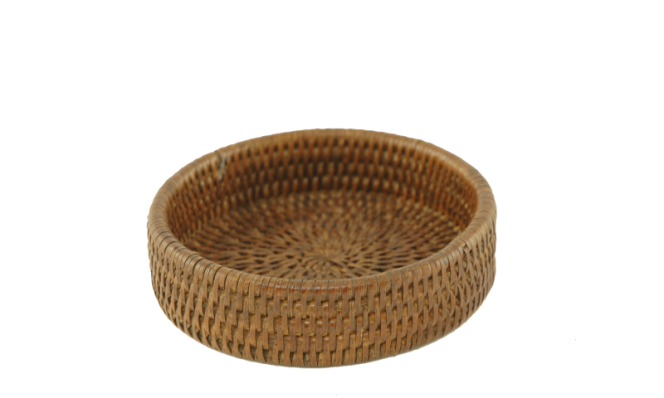 Bottle coaster rattan Dia 13,5x3,5 cm G952