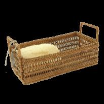 Bread basket castle w handles 23x13x9 cm G598