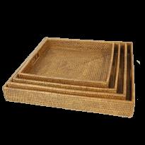Breakfast tray set of 4 55x55x8, 50x50x8, 45x45x7, 40x40x7 cm G737