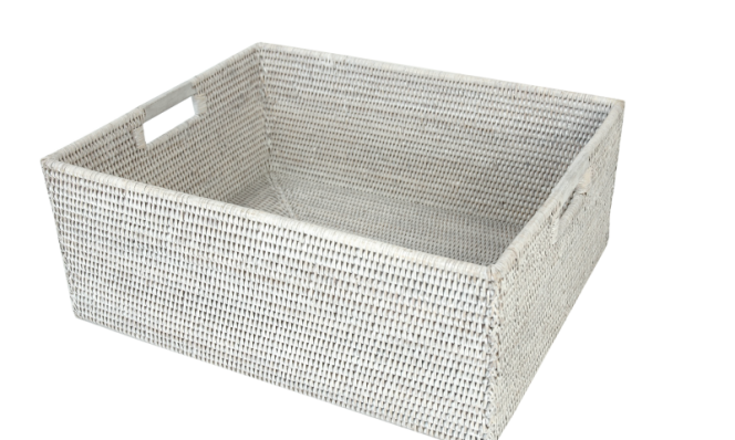 Rect storage box wooden handles 50x40x20 cm GBPG10
