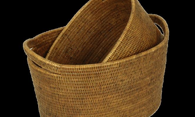 Vienna baskets small (2) 44x33x27, 37x28x21 cm G808