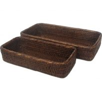 bathroom baskets (2) 31x15x5.5 to 25x11x5.5 cm G240