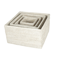 Square box set 26x26x15, 21x21x13, 16x16x11, 11x11x10 cm GB822