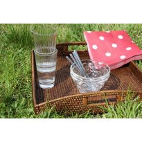 Square trays (set) 35x35x5, 40x40x5 cm G129L