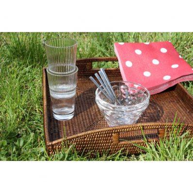 Square trays (set) 35x35x5, 40x40x5 cm G129L