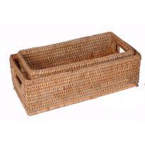 basket gil (set) 28x13x9cm, 25x11x9cm GN962