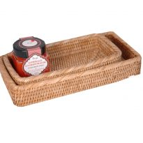 bathroom baskets (2) 31x15x5.5cm, 25x11x5.5cm, GN240