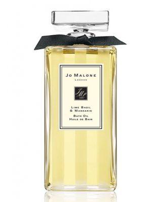 Lime Basil & Mandarin Glass Decanter Bath Oil 200ml JM077