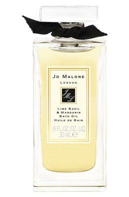 _Lime Basil & Mandarin Glass Decanter Bath Oil 30ml JM073