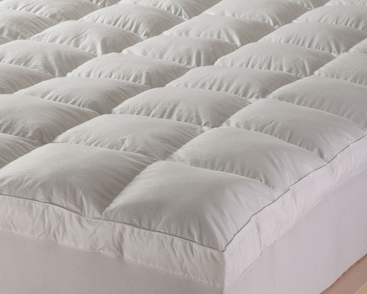 Mattress Topper Luxury Cotton Cover Goose Feather Home