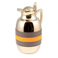 TT065 BICOLOR THERMAL CARAFE LT. 1 GOLD PLATED GIOBGNARA