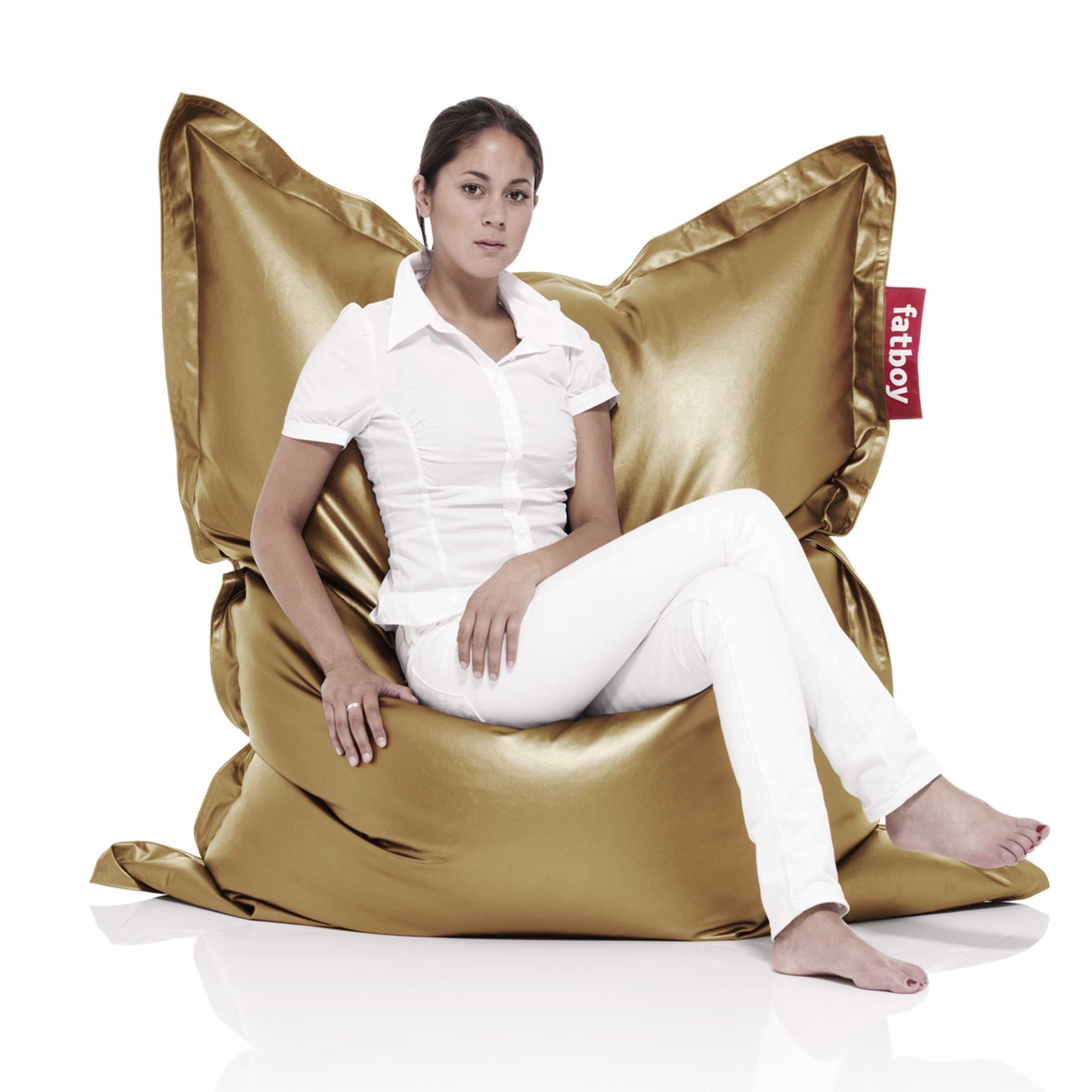... fat boy bean bags metalic gold  sc 1 st  Finest Bed Linen u0026 Interiors & Fat Boy Bean bag - MÈTAHLOWSKI | Home u0026 Yacht Linen and Interiors