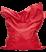 fatboy bean bag - original red
