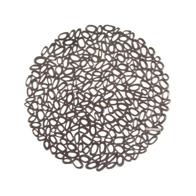 Chilewich - Placemat PRESSED PEBBLE Round Ref 100344