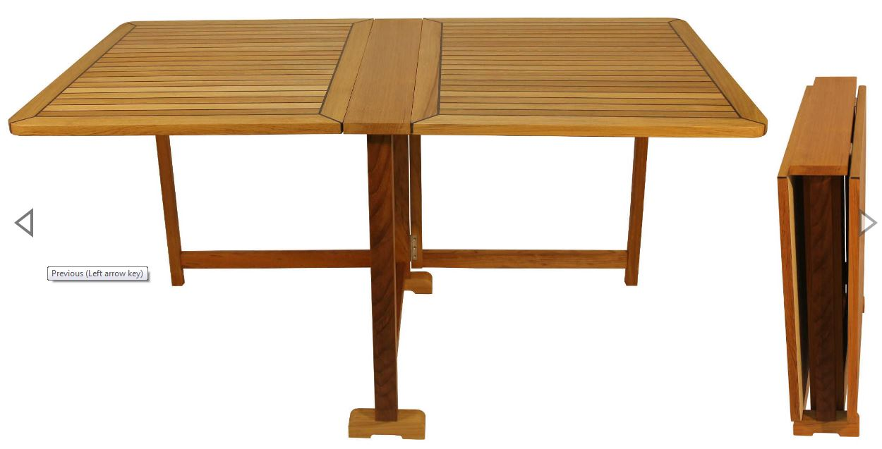 Picture of: Teak Folding Table Home Yacht Linen And Interiors