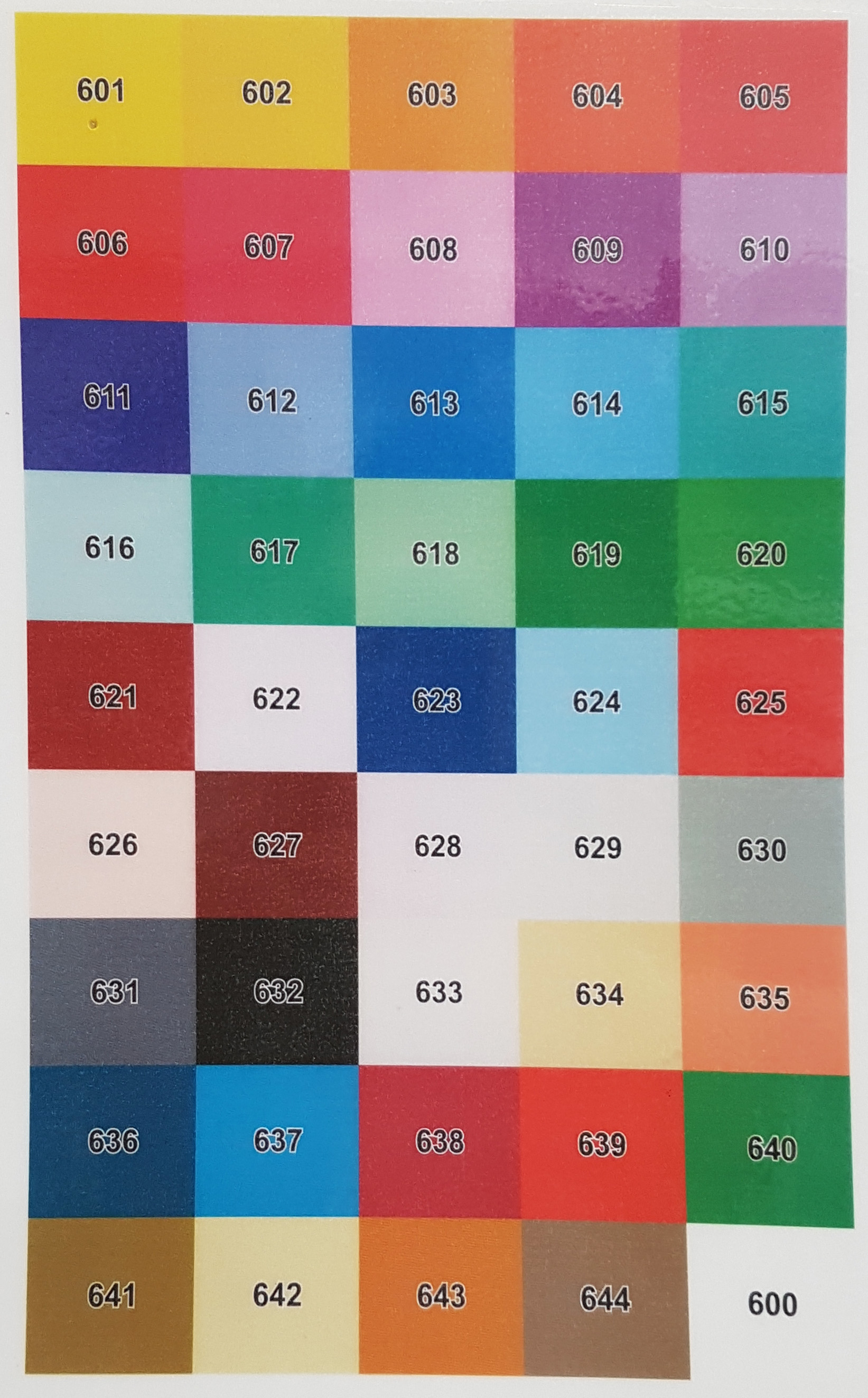 dockmat colour reference
