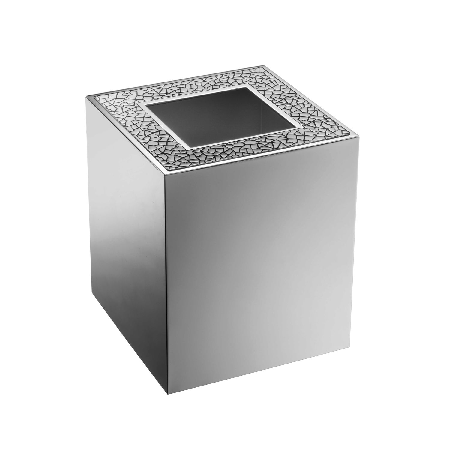 Windisch bath pedal bin with cover home yacht linen for Gold bathroom bin