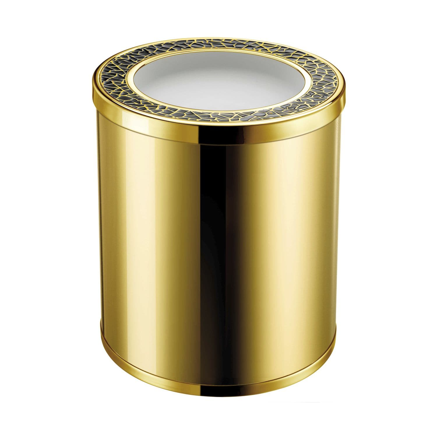 Windisch bath bin with ring home yacht linen and for Gold bathroom bin