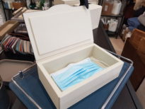 Leather storage box for Corona virus face masks